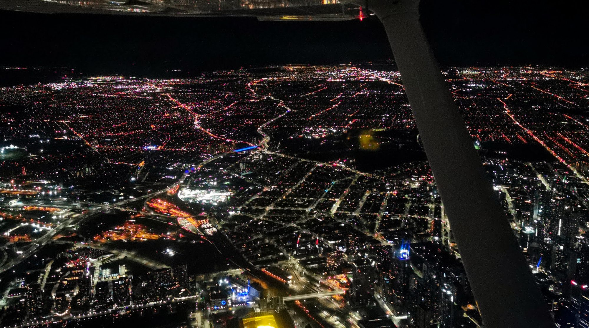 NVFR night flying Melbourne