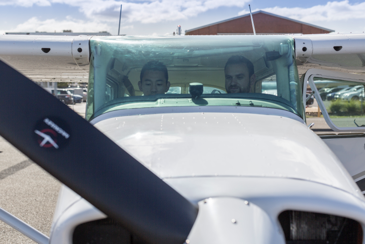 Melbourne flying school Student Pilots in a Cessna 172