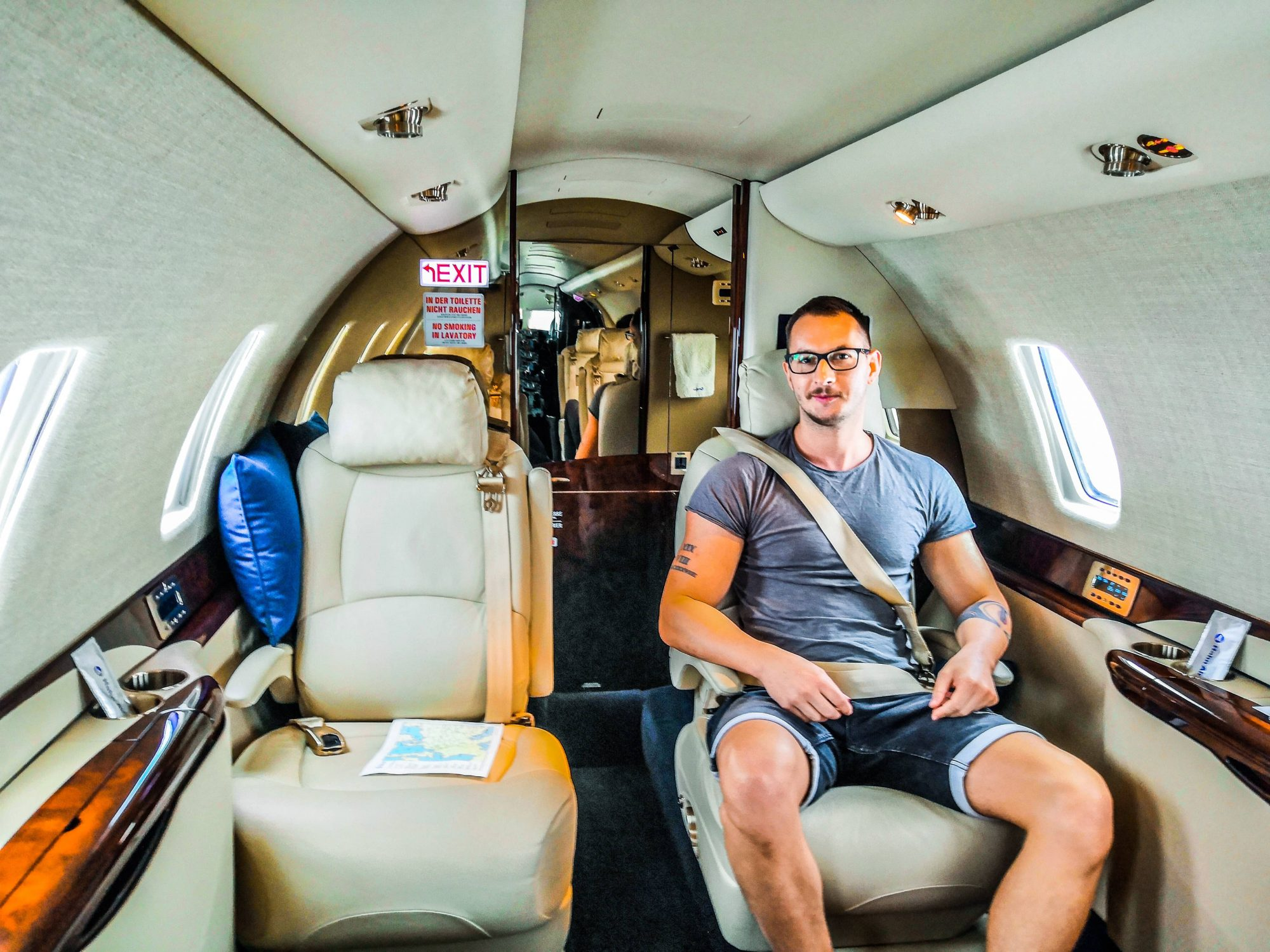Passenger on private jet